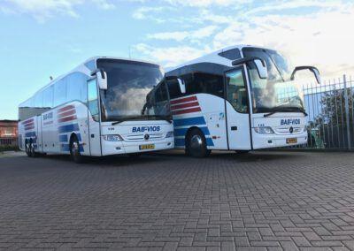 De 62 personen bus van BAB Vios die in gebruik is genomen