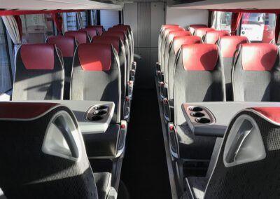 Het nieuwe interieur van een bus die wordt aangeboden door BAB Vios